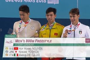 'Kình ngư' 18 tuổi Nguyễn Huy Hoàng giành HCV Olympic trẻ 2018