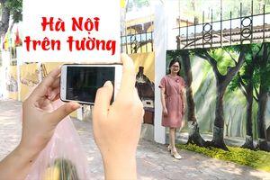 Vẽ Hà Nội cổ kính lên những bức tường trên phố Phan Đình Phùng