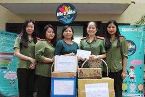 Hội Phụ nữ Học viện An ninh ủng hộ quà và 2 triệu đồng cho Mottainai