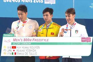 Kình ngư Huy Hoàng đoạt HCV Olympic trẻ 2018