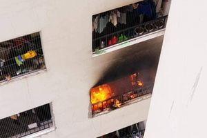 Cháy dữ dội ở tầng 31 tòa nhà thuộc khu tổ hợp chung cư HH Linh Đàm