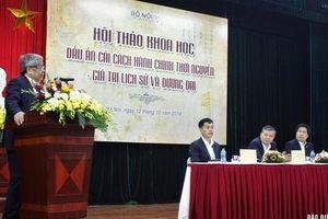 Bài học từ cải cách hành chính Triều Nguyễn