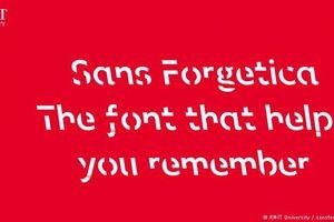 Phông chữ mới giúp người đọc ghi nhớ thông tin