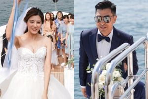 Lễ cưới trên du thuyền của tài tử TVB và người đẹp kém 13 tuổi