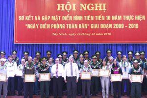 Tây Ninh: Sơ kết và gặp mặt điển hình tiên tiến thực hiện 'Ngày Biên phòng toàn dân'