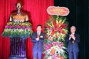 Đồng chí Trần Quốc Vượng, Ủy viên Bộ Chính trị, Thường trực Ban Bí thư dự kỷ niệm 190 năm thành lập huyện Tiền Hải - Thái Bình