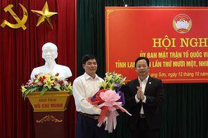 Bí thư huyện ủy Đình Lập làm Chủ tịch Ủy ban MTTQ tỉnh Lạng Sơn