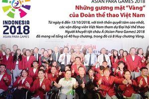 Những gương mặt 'Vàng' của Đoàn thể thao Việt Nam tại Asian Para Games