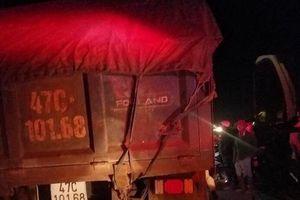 Thương tâm một trung úy Công an huyện Krông Ana bị xe ben cán tử vong