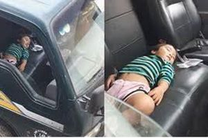 Vô tư ngủ trên xe tải khi đi bốc hàng cùng bố, bé gái gây sốt vì gợi lại 'cả một trời thương nhớ'