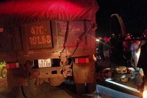 Đắk LắK: Nữ Trung úy Công an bị xe ben cán tử vong