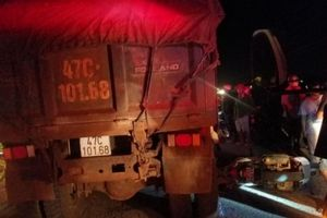 Một trung úy công an va chạm xe ben, tử vong tại chỗ
