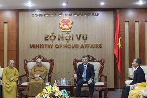 Thứ trưởng Bộ Nội vụ Nguyễn Trọng Thừa tiếp xã giao Phó Chủ tịch Ủy ban Tổ chức Quốc tế Đại lễ Vesak Liên hiệp quốc