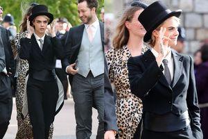 Cara Delevingne 'lách luật' trang phục khách mời trong đám cưới hoàng gia Anh