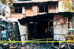 Hiện trường vụ cháy khiến một người chết trưa chủ nhật