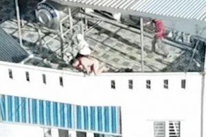 Clip: Người nước ngoài nhảy từ lầu 4, Cảnh sát 113 chụp tay cứu mạng