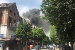 Cháy lớn tại căn nhà trong khu đô thị Trung Văn