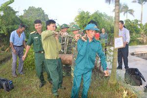 Bộ CHQS tỉnh Ninh Bình phá hủy thành công bom MK92