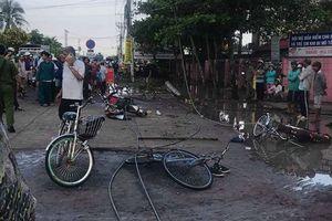 Long An: Đứt dây điện cao thế trước cổng trường, 6 học sinh thương vong