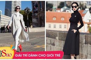 U40 Xuân Lan khoe street style eo thon dáng nuột giữa trời Âu