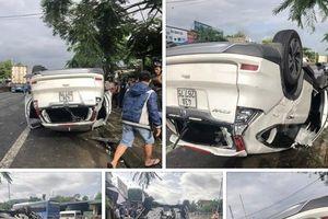 Hiện trường vụ xe PGĐ sở ở Đà Nẵng lật ngửa, vợ tử vong