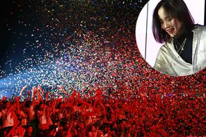 Phương Ly cùng hàng nghìn sinh viên ĐH Hà Nội quẩy hết mình trong đêm Đại nhạc hội chào 'lính mới'