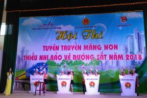 Sôi nổi hội thi thiếu nhi bảo vệ đường sắt tại Quảng Trị