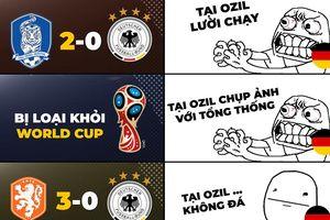 Biếm họa 24h: Cỗ xe tăng Đức 'tuột xích', Mesut Ozil ngấm ngầm hả hê