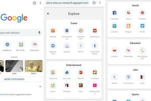 Google mang giao diện người dùng Explore đến Chrome trên Android