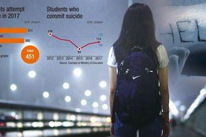 Số học sinh tự sát ở Hàn Quốc tăng cao do căng thẳng