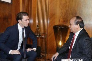 Hình ảnh hoạt động của Thủ tướng Nguyễn Xuân Phúc tại Cộng hòa Áo