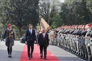 Lễ đón chính thức Thủ tướng Nguyễn Xuân Phúc thăm Áo