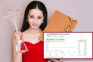 Cổ phiếu đài Hồ Nam rớt giá trầm trọng sau khi trao giải hai giải lớn cho Địch Lệ Nhiệt Ba tại Kim Ưng 2018
