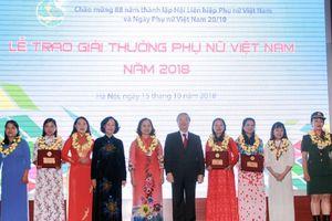 Chân dung 5 tập thể và 10 cá nhân được trao Giải thưởng Phụ nữ Việt Nam 2018