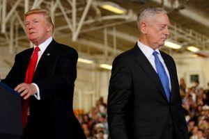Ông Trump nói 'bóng gió' việc Bộ trưởng Quốc phòng Mỹ sắp từ chức