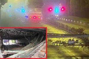 TP.HCM: Công an truy tìm xe tải tông sập mái che hầm Thủ Thiêm rồi bỏ chạy