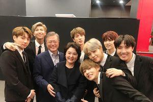 BTS diện kiến Tổng thống Moon Jae In và phu nhân trên đất Pháp