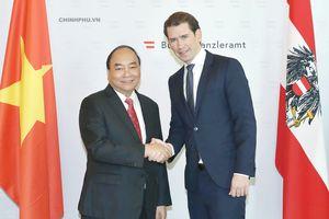 Thủ tướng Áo đón và hội đàm với Thủ tướng Nguyễn Xuân Phúc