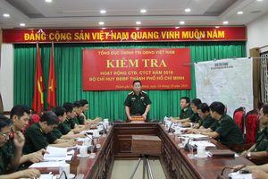 Thượng tướng Nguyễn Trọng Nghĩa thăm, kiểm tra tại BĐBP thành phố Hồ Chí Minh