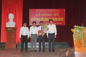 Bổ nhiệm Chánh văn phòng Huyện ủy Con Cuông; Quỳ Hợp bầu Chủ tịch UB MTTQ huyện