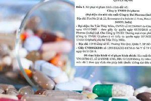 Phạt Oripharm 70 triệu đồng vì sản xuất thuốc không đạt tiêu chuẩn