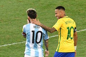 Neymar vui mừng vì không phải đối đầu với Messi