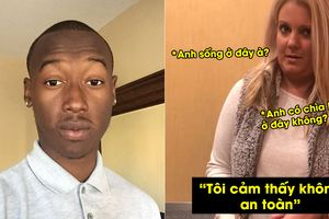 Cô gái da trắng chất vấn, không cho chàng da đen vào căn hộ cao cấp của chính anh ta