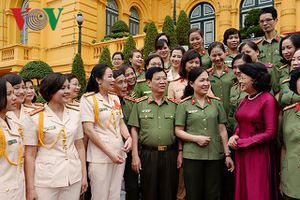 Quyền Chủ tịch nước tiếp đoàn phụ nữ Công an nhân dân tiêu biểu