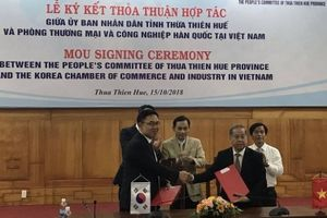 Thừa Thiên Huế và Phòng Thương mại và Công nghiệp Hàn Quốc ký kết thỏa thuận hợp tác xúc tiến đầu tư