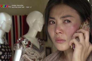 'Quỳnh búp bê' tập 17: Bị gia đình chồng hụt tới đòi tiền, Lan vác dao ra dọa