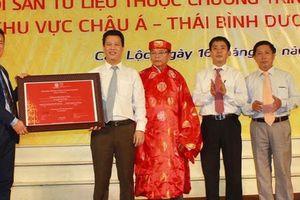 Đón bằng công nhận di sản kí ức thế giới 'Hành trình đi sứ Trung Hoa'