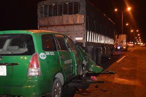 3 người trên taxi thiệt mạng sau tai nạn ở cầu Cần Thơ