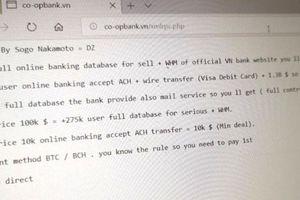 Website bị tấn công, Co-opbank khẳng định khách hàng không bị ảnh hưởng
