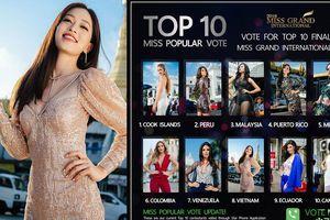 Á hậu Phương Nga lọt top 10 Miss Popular Vote